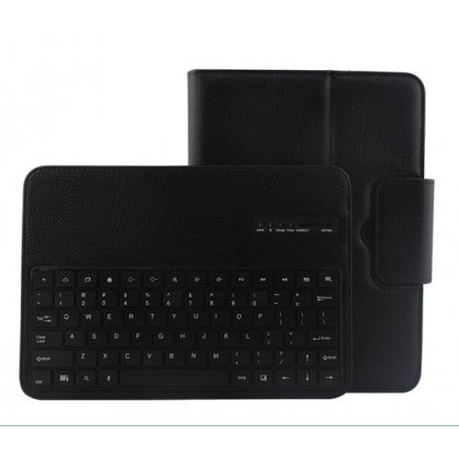 Removable Bluetooth Keyboard Leather Case For Samsung Galaxy Tab 3 10.1 P5200 P5210 - Black