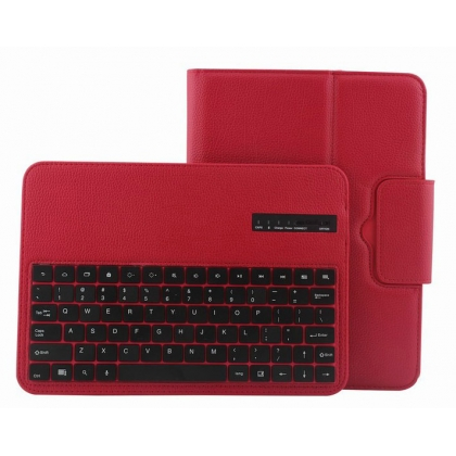 Removable Bluetooth Keyboard Leather Case For Samsung Galaxy Tab 3 10.1 P5200 P5210 - Red