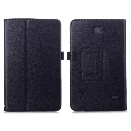 Lychee Leather Pouch Case With Stand for Samsung Galaxy Tab 4 8.0 T330 - Black