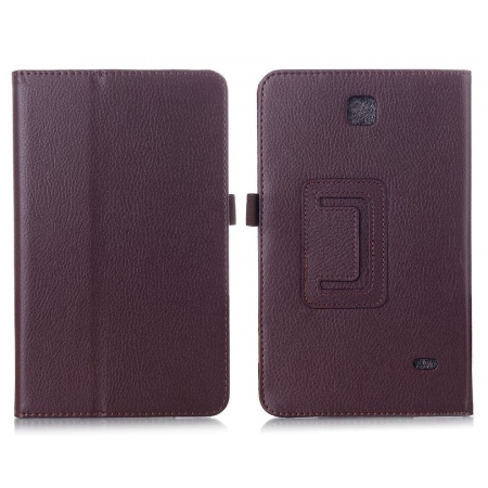 Lychee Leather Pouch Case With Stand for Samsung Galaxy Tab 4 8.0 T330 - Brown