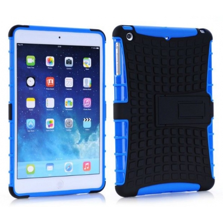 Shockproof Military Duty Hybrid Hard Case for iPad Mini 2 Retina - Blue