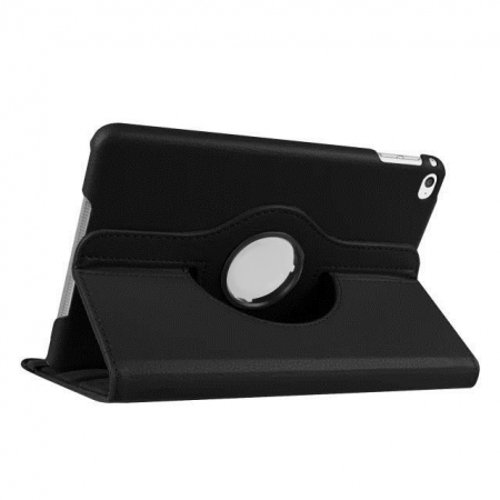 360 degree Rotating Tablet Cover Flip Leather Case for iPad Mini 4 - Black