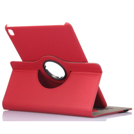 360 Rotating Mutil-angle Stand Leather Case For iPad Pro 9.7 Inch - Red