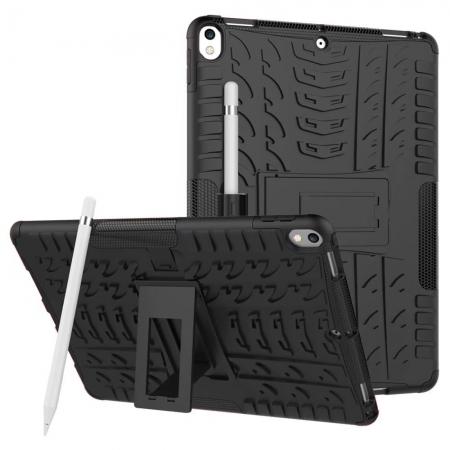 Shockproof Hybrid TPU+PC Dual Layer Protective Case Cover for 10.5-inch iPad Pro - Black