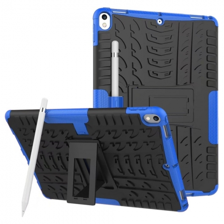 Shockproof Hybrid TPU+PC Dual Layer Protective Case Cover for 10.5-inch iPad Pro - Blue