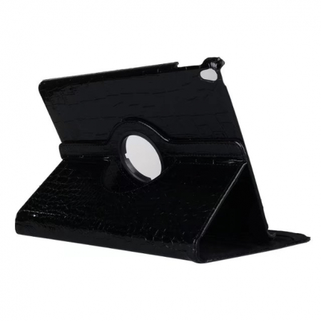 Rotating Crocodile PU Leather Case with Stand for iPad Pro 10.5 inch  - Black
