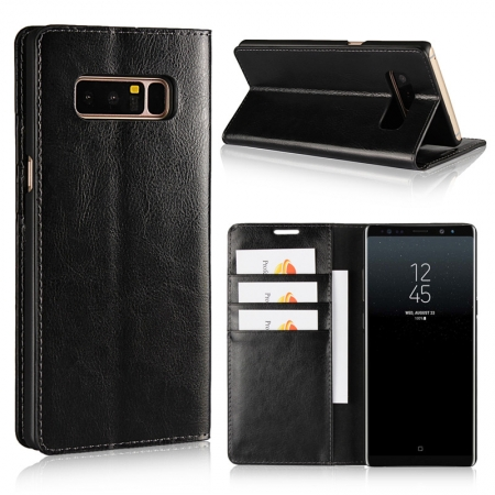 For Samsung Galaxy Note 8 9 10 S20 S0 Plus Ultra Genuine Leather Flip Wallet Phone Case Cover