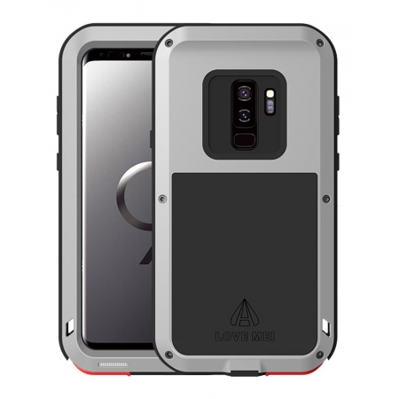 Shockproof Dust / Dust / Snowproof Aluminum Metal + Silicone Case For Samsung Galaxy S9 - Silver