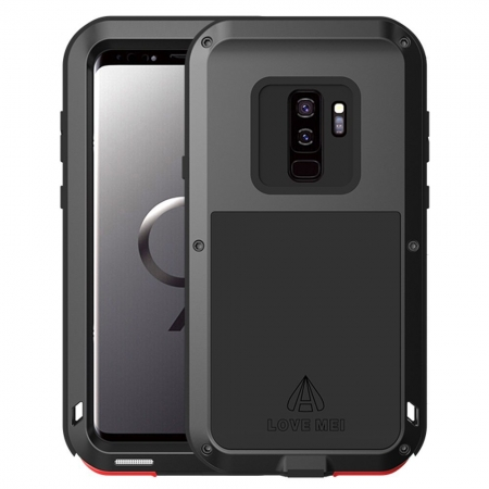 Aluminum Metal Shockproof Cover Case for Samsung Galaxy S9 Plus - Black