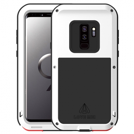 Aluminum Metal Shockproof Cover Case for Samsung Galaxy S9 Plus - White