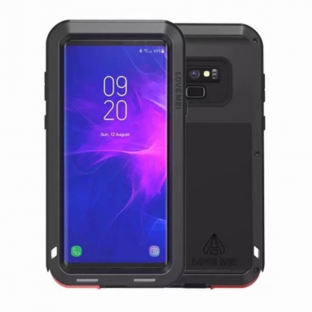 Metal Aluminum Armor Shockproof Bumper Case For Samsung Galaxy Note 9 - Black