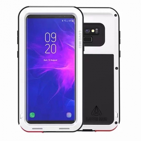 Metal Aluminum Armor Shockproof Bumper Case For Samsung Galaxy Note 9 - White