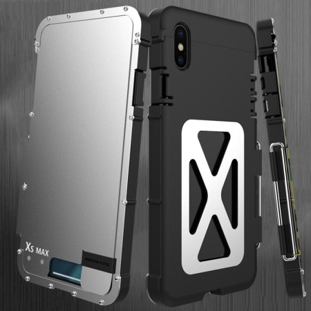 Shockproof Armor Metal Flip Aluminum Case For iPhone 6 7 8 Plus X XS Max