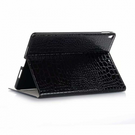 "For iPad Air 10.5"" 2019 Crocodile Texture Flip Stand Leather Case - Black"
