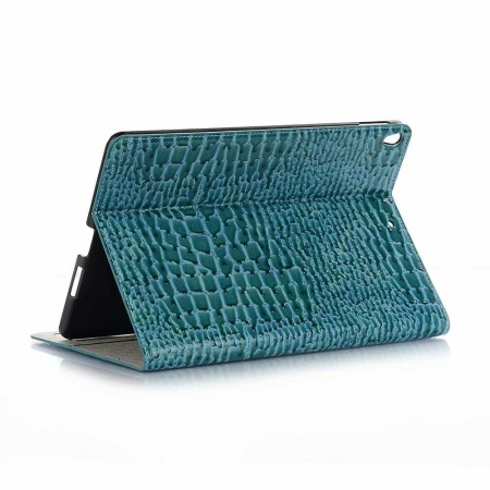 "For iPad Air 10.5"" 2019 Crocodile Texture Flip Stand Leather Case - Blue"