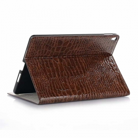 "For iPad Air 10.5"" 2019 Crocodile Texture Flip Stand Leather Case - Brown"