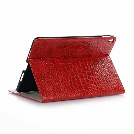 "For iPad Air 10.5"" 2019 Crocodile Texture Flip Stand Leather Case - Red"