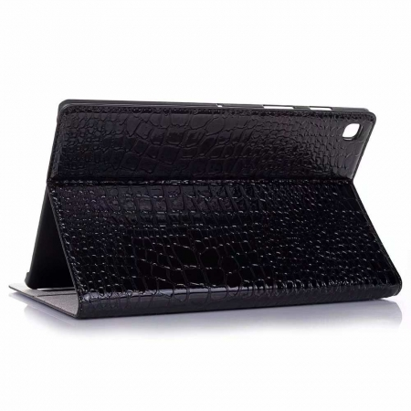 "For Samsung Galaxy Tab S5e 10.5"" SM-T720/T725 Crocodile Texture Flip Stand Leather Case - Black"