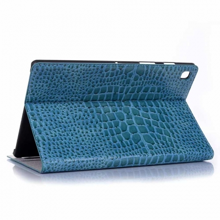 "For Samsung Galaxy Tab S5e 10.5"" SM-T720/T725 Crocodile Texture Flip Stand Leather Case - Blue"