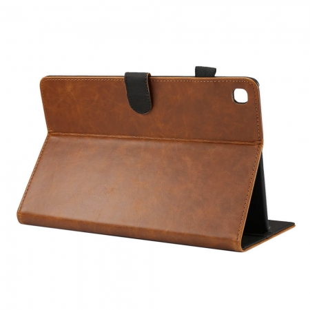 "For Samsung Galaxy Tab S5e 10.5"" SM-T720/T725 Crazy Horse Pattern Stand Leather Case - Brown"