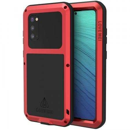 Case for Samsung Galaxy S20 - Shockproof Metal Cover Full Body Rugged Cover Red