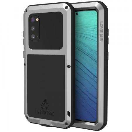 Case for Samsung Galaxy S20 - Shockproof Metal Cover Full Body Rugged Cover Silver