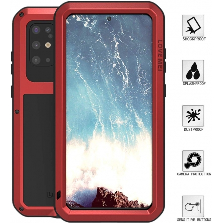 For Samsung Galaxy A71 5G / S20 Ultra Plus Phone Case WIth Gorilla Glass Aluminum Metal Waterproof Shockproof Cover