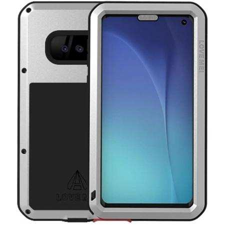 Case for Samsung Galaxy S10e Waterproof Shockproof Aluminum Metal Cover Silver