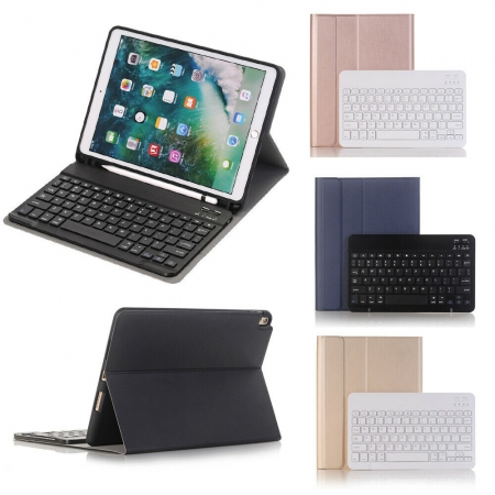 For iPad 7th 8th Generation 10.2 Wireless Bluetooth Keyboard Leather Case Cover