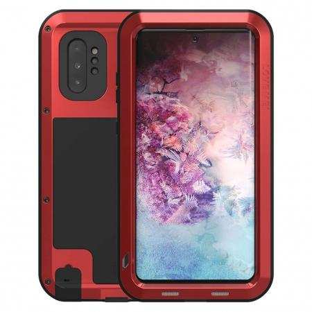For Samsung Galaxy Note 10 Plus - Shockproof Dustproof Aluminum Metal Case Red