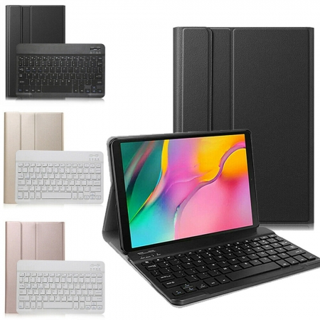 For Samsung Galaxy Tab A 10.1 SM-T510 T515 2019 Leather Case +Wireless Keyboard