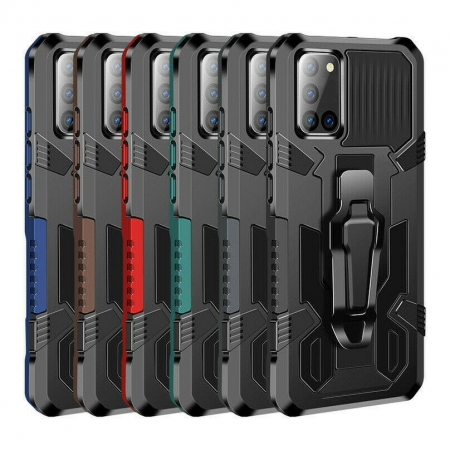 For Samsung Galaxy S20 FE 5G UW Shockproof Armor Stand Case Cover With Belt Clip