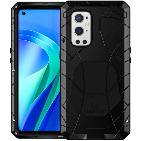 Case for Oneplus 9 Pro, Oneplus 9 Pro Rugged Metal Aluminum Armor Heavy Duty Bumper Cover
