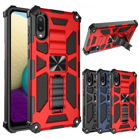 For Samsung Galaxy A02 A02S Case Shockproof  Armor Kickstand Cover
