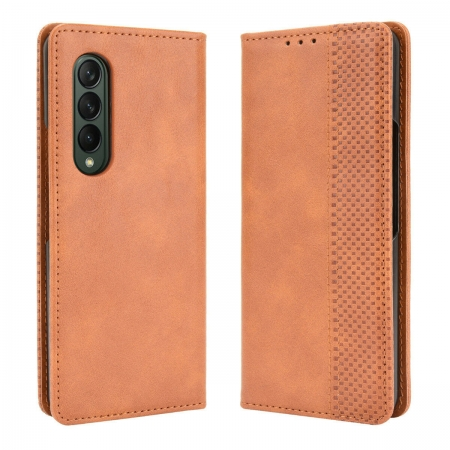 For Samsung Galaxy Z Fold3 Fold 3 5G Leather Wallet Flip Case Cover