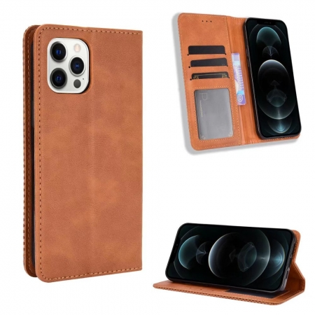 For iPhone 13 Mini Pro Max Leather Wallet Flip Case Cover