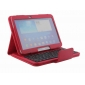 samsung galaxy 10.1 tablet cover,Removable Bluetooth Keyboard Leather Case For Samsung Galaxy Tab 3 10.1 P5200 P5210 - Red