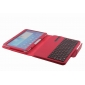 case samsung galaxy 10.1,Removable Bluetooth Keyboard Leather Case For Samsung Galaxy Tab 3 10.1 P5200 P5210 - Red