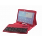galaxy 10.1 cover case,Removable Bluetooth Keyboard Leather Case For Samsung Galaxy Tab 3 10.1 P5200 P5210 - Red