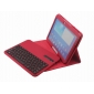 galaxy 10.1 screen,Removable Bluetooth Keyboard Leather Case For Samsung Galaxy Tab 3 10.1 P5200 P5210 - Red