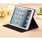 leather ipad air case with stand,New Arrival Crocodile PU Leather Flip Folio Smart Cover Stand Case for iPad Air - Black