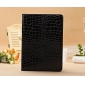 ipad air covers leather case,New Arrival Crocodile PU Leather Flip Folio Smart Cover Stand Case for iPad Air - Black