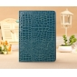 ipad air leather cases with stand,New Arrival Crocodile PU Leather Flip Folio Smart Cover Stand Case for iPad Air - Blue