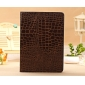 best leather ipad air cases,New Arrival Crocodile PU Leather Flip Folio Smart Cover Stand Case for iPad Air - Brown