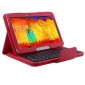 Removable Wireless Bluetooth Keyboard Leather Case Stand Cover For Samsung Galaxy Tab Pro 10.1 T520 - Red