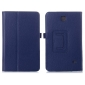 Lychee Leather Pouch Case With Stand for Samsung Galaxy Tab 4 8.0 T330 - Blue
