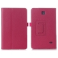 Lychee Leather Pouch Case With Stand for Samsung Galaxy Tab 4 8.0 T330 - Hot pink