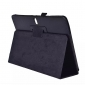 Lychee Leather Stand Fold Folio Case for Samsung Galaxy Tab S 10.5 T800 - Black