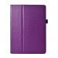 Lychee Leather Stand Fold Folio Case for Samsung Galaxy Tab S 10.5 T800 - Purple