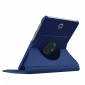 360 Degree Rotating Stand Litchi Leather Cover Case for Samsung Galaxy Tab S2 9.7 T815 - Dark blue